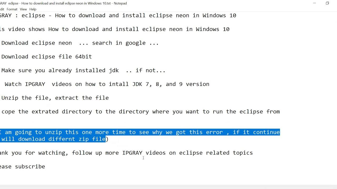 eclipse neon download zip file