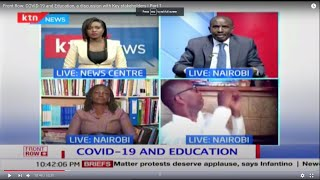 Front Row: COVID-19 and Education, a discussion with Key stakeholders | Part 1