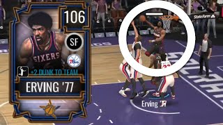NBA Live Mobile, but if I miss a dunk with 106 Julius Erving…
