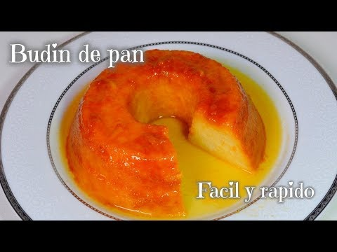 Budin de pan con caramelo FACIL Y RAPIDO
