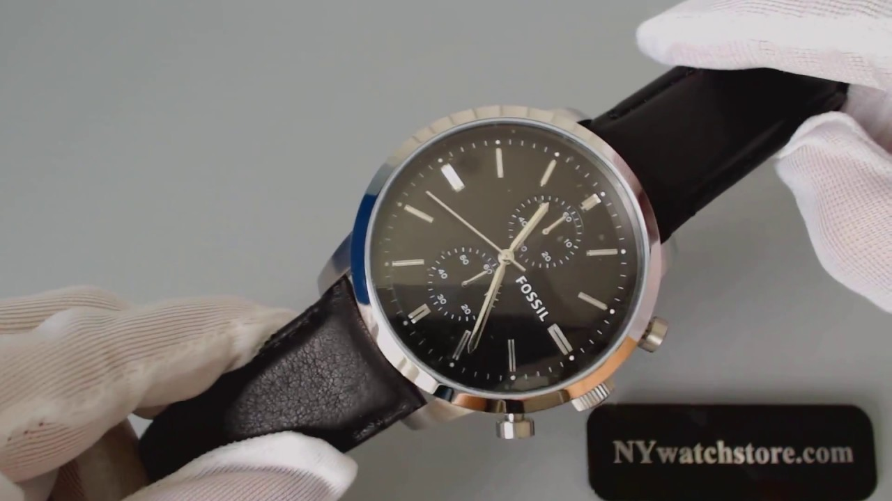 8d7dff86df3c8 Men s Fossil Townsman Chronograph Leather Band Watch FS4866 - YouTube