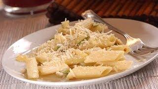 Penne Rigate Con Calabacitas Y Queso Ricotta - Pasta With Zucchini And Feta Cheese- Recetas De Pasta