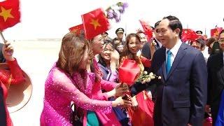 Chủ tịch nước Trần Đại Quang và Phu nhân bắt đầu chuyến thăm cấp Nhà nước tới CHND Trung Hoa