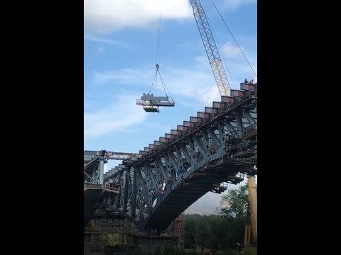 Мост через канал им.Москвы на ЦКАД  .Строительство моста через канал им Москвы   ЦКАД 3  1 часть .