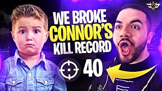 WE BROKE CONNOR'S KILL RECORD - THIS IS THE GOD SQUAD! (Fortnite: Battle Royale)