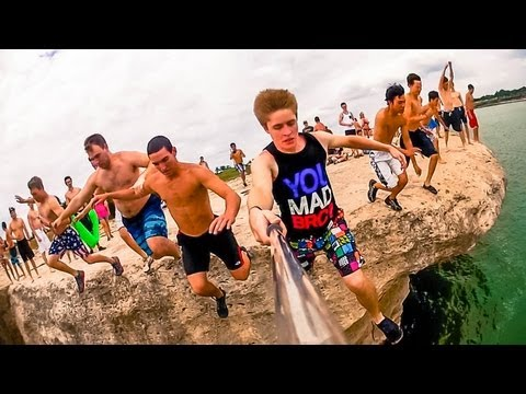 Cliff Jumps - Lake Whitney, TX - Memorial Day 2013