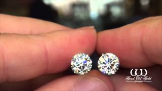 3.42cttw diamond stud earrings