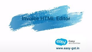 Invoice HTML Editor