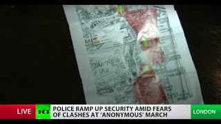 Chaos in London as Million Mask March breaks permitted route