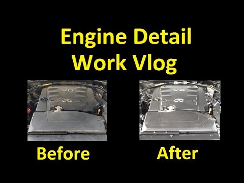Headlight Restoration Engine Detailing Car Degrease ~ Work Vlog