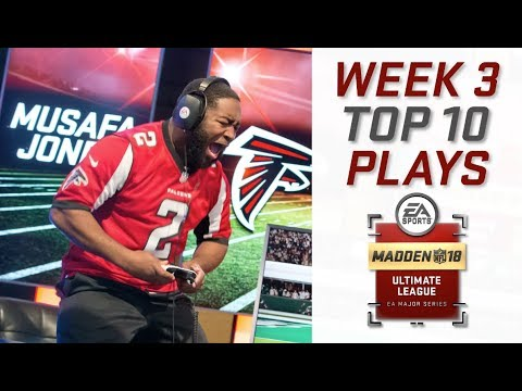 Top 10 Plays of Week 3 | Madden Ultimate League | Madden NFL 18