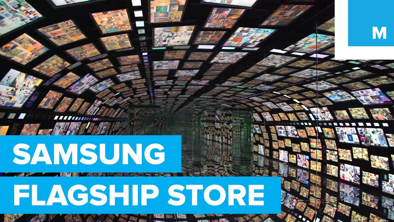 samsung flagship store in nyc first look mashable youtube. Black Bedroom Furniture Sets. Home Design Ideas