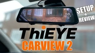 ThiEYE Carview 2 - Mirror Car Dash Camera -  Dual 1080P Cameras - Super Night Vision