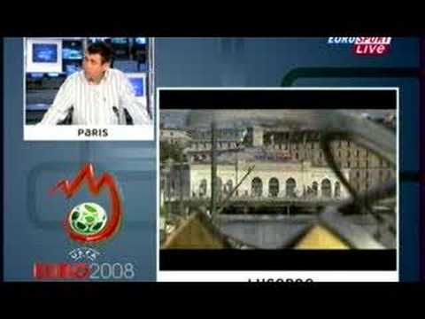 Roger Federer at the draw  for the EURO 2008