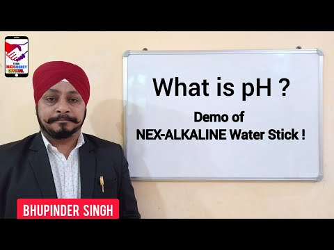 Nex-Alkaline Magnesium Rich Water Stick में PH Level का Live Demo 💧