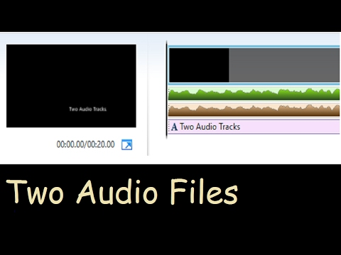 How To Add Two Audio Files Windows Movie Maker
