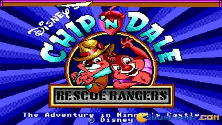Chip and Dale gameplay (PC Game, 1990)