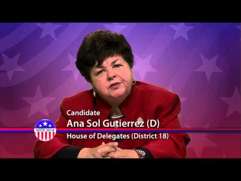Ana Sol Gutierrez (D), Candidate for Maryland House of Delegates District 18