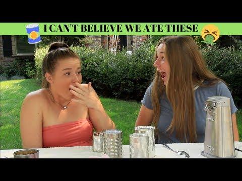 SHE ATE CAT FOOD!! Tin Can Challenge  Lauren Miller
