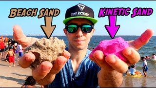 Can you turn Beach Sand into Kinetic Sand?!?