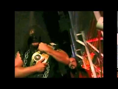 Abyss Walking Around Backstage With The NWA World Heavyweight Championship