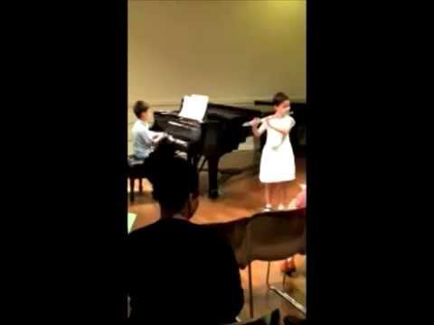 Ella & Isaac play Siciliana and Giga by G. F. Handel