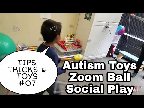 AUTISM Social Games Zoom Ball - Tips Tricks Toys #07 Play Together Gross Motor Occupational Therapy
