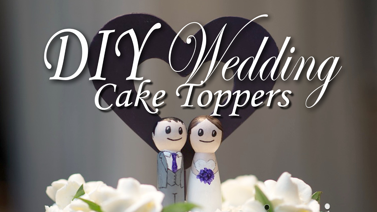 How To Make Wedding Cake Toppers
