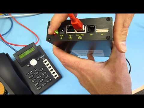 snom PA1 Basic operation with IP call from telephone