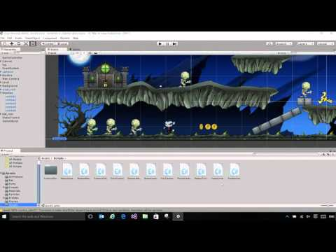 2) Building your first Unity game - YouTube