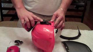 chain saw helmet assembly