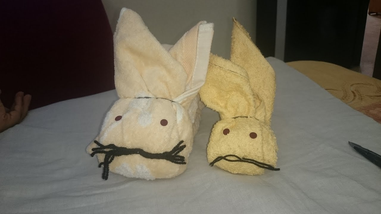 decorate your house with a towel rabbit towel art rabbit