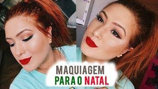 MAKE DE NATAL FÁCIL E RÁPIDA 🎄2018