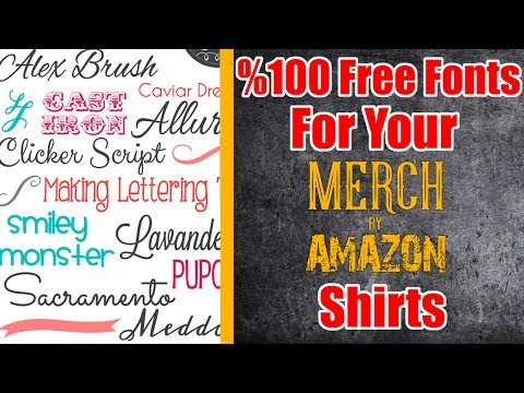 Free Fonts Download - Commercial Use Free Fonts So You Can Create Merch by Amazon T Shirt Designs