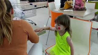 Милана и аквагрим видео для детей Milana and aquagrim video for children