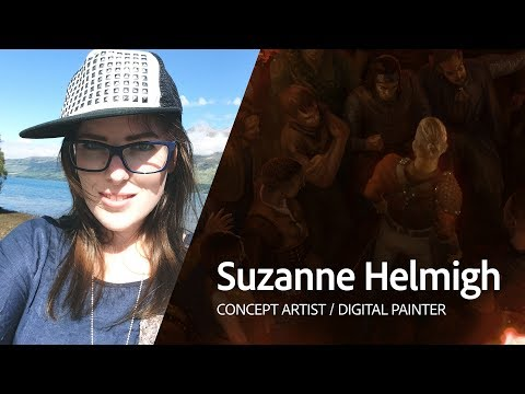 Live Digital Painting with Suzanne Helmigh 1/3
