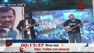Music concert in support of AAP at Jantar Mantar