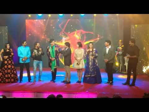 Ravi kishan,Khesari lal yadav and Nirhua on one stage at sabrang award show 2017