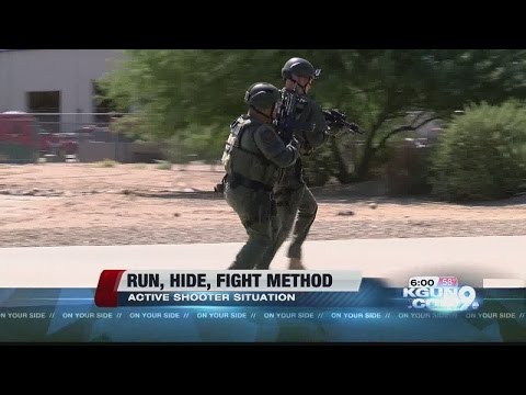 """Tucson and UA Police adivse to use the """"Run, Hide, Fight"""" method in active shooter situation"""