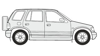 How to Draw a Kia Sportage / Как нарисовать Kia Sportage