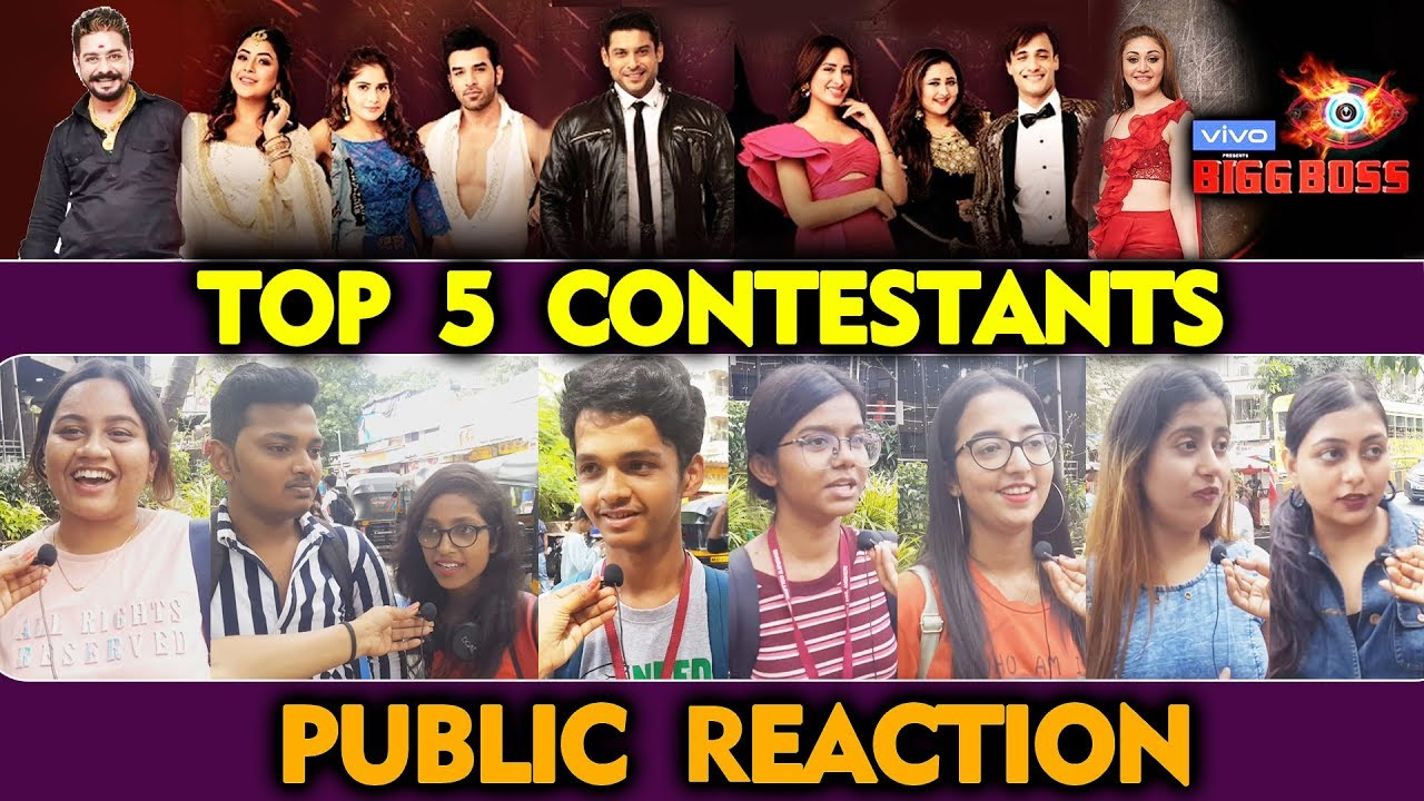 Bigg Boss 13 Top 5 Contestants Public Reaction Bb 13 Latest Video