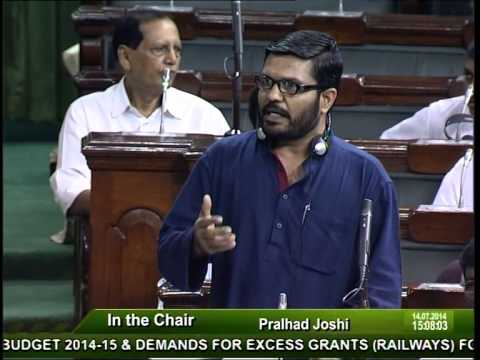 Speech on Rail Budget 2014 15 by M.B.Rajesh.M.P