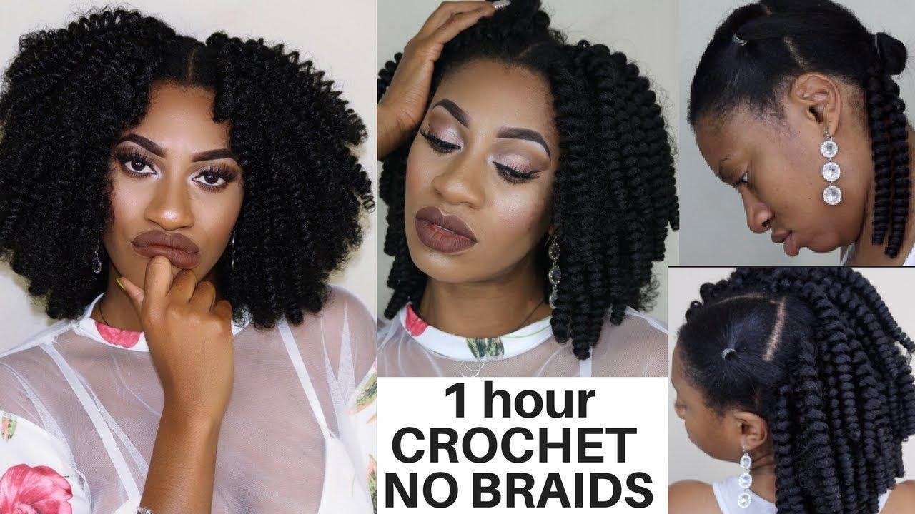 Hair Style 0 5: BEST BRAIDLESS CROCHET TUTORIAL, No Cornrows No LEAVEOUT