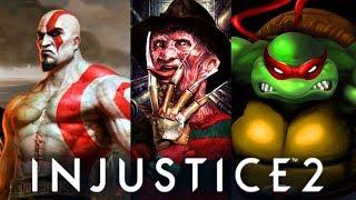 INJUSTICE 2 & Mortal Kombat - ALL Guest Characters Cinematic ENDINGS!!