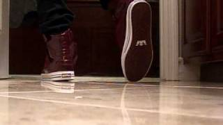 Supra TK Society Burgundy Shoes With Skinny Jeans