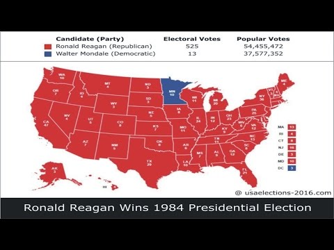 1984 US Presidential Election Result