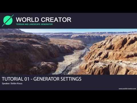 World Creator 2.2 for Unity - Tutorial 01 (Generator Settings)
