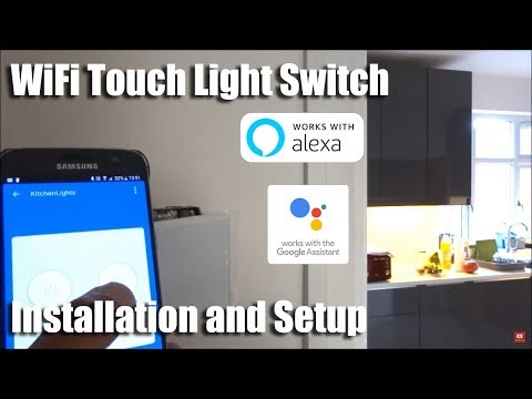 Unboxing and installation of a Knaclean Smart WIFI Touch Switch including wiring diagram