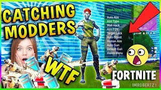 Modder Plays Fortnite on Xbox One! WTF?! Catching Modders/Hackers Fortnite Battle Royale! Mod Menu?