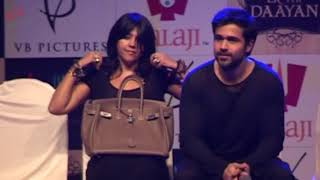 Repeat youtube video Ekta Kapoor Wardrobe Malfunction at Film Launch